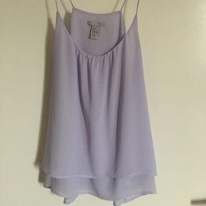 Lavender H&M Chiffon Tank